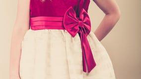 Тело части девушки в платье принцессы Стоковое Изображение RF