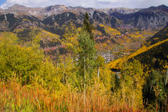 Теллурид, вид с воздуха Колорадо стоковые фото