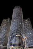 Тель-Авив, ландшафт города ночи Стоковое фото RF