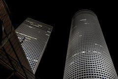 Тель-Авив, ландшафт города ночи Стоковые Изображения