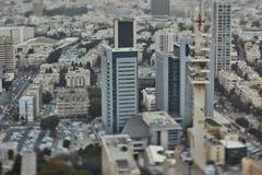 Тель-Авив - 10 06 2017: Вид с воздуха на дорогах и propert Тель-Авив Стоковые Изображения RF