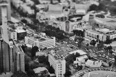 Тель-Авив - 10 06 2017: Вид с воздуха на дорогах и propert Тель-Авив Стоковое фото RF