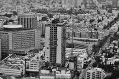 Тель-Авив - 10 06 2017: Вид с воздуха на дорогах и propert Тель-Авив Стоковое Изображение