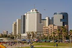 Тель-Авив, гостиницы высотного здания Стоковые Фото