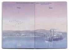 Страница пасспорта США пустая стоковое фото rf