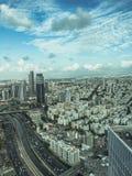 Тель-Авив от взгляда птиц-глаза Стоковые Изображения