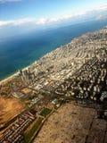Тель-Авив от самолета Стоковые Фото