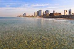 Тель-Авив. Панорамный взгляд от Яффы стоковые изображения rf