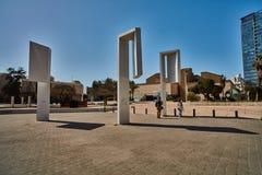 Тель-Авив - 10 02 2017: Экстерьер музея изобразительных искусств Тель-Авив и monu искусства Стоковое Изображение RF
