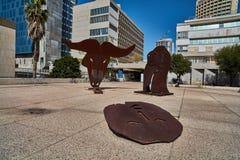 Тель-Авив - 10 02 2017: Экстерьер музея изобразительных искусств Тель-Авив и monu искусства Стоковая Фотография