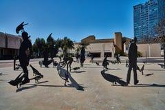 Тель-Авив - 10 02 2017: Экстерьер музея изобразительных искусств Тель-Авив и monu искусства Стоковое фото RF