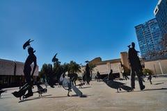 Тель-Авив - 10 02 2017: Экстерьер музея изобразительных искусств Тель-Авив и monu искусства Стоковые Фото