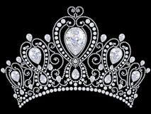 тиара кроны диаманта иллюстрации 3D Стоковое Изображение