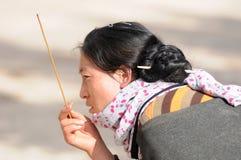 тибетец девушки стоковые изображения