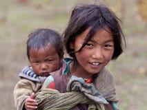 тибетец девушки Стоковое Фото