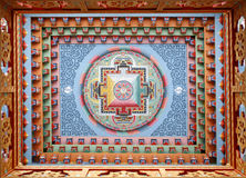 тибетец картины monestery мандала Стоковое Фото