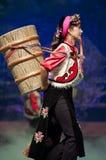 тибетец китайской танцульки danba этнический стоковые изображения
