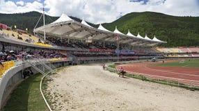тибетец лошадиных скачек Стоковое фото RF