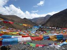 Тибетец молит стоковое фото