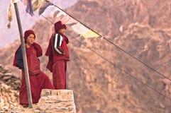 тибетец 2 детей Стоковая Фотография RF