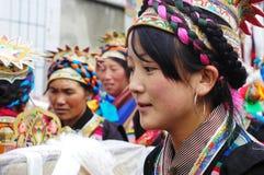 тибетец ongkor девушки празднества стоковая фотография