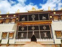 Тибетская буддийская архитектура стоковое фото
