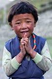 Тибетская девушка, Непал Стоковые Фото