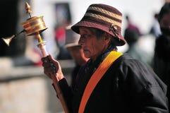 Тибетская женщина стоковое изображение rf