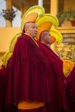 Тибетские ламы, монастырь Gyuto, Dharamshala, Индия стоковые фотографии rf
