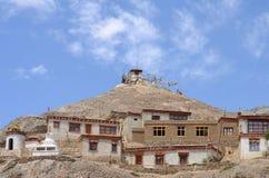 Тибетские дома монастыря Стоковые Изображения