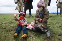 Тибетские пастухи Стоковые Изображения RF