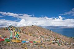 Тибетские флаги молитве Стоковое Изображение