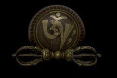Тибетские шар и vajra петь Стоковые Изображения
