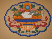 Тибетские элементы стоковые изображения