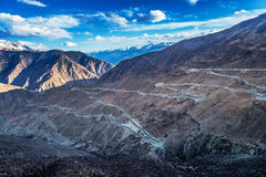 Тибетский ландшафт Стоковое Изображение