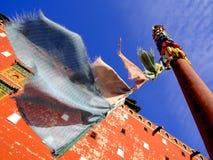 Тибетский висок в Китае Стоковое Изображение RF