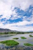 Тибетский пейзаж Стоковые Фотографии RF