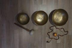 Тибетский стоящий колокол Стоковые Изображения