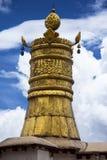 Тибетское знамя победы, gyeltsen ¼ ŒBuddhist ï в Тибете стоковая фотография rf