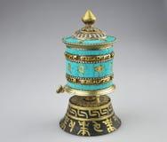 Тибетское колесо молитве Стоковая Фотография