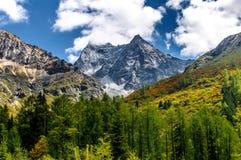 Тибетское плато в предыдущей осени Стоковые Изображения