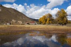 тибетское село Стоковое фото RF