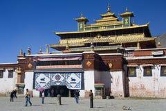 Тибет - скит сывороток буддийский стоковые фотографии rf