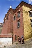 Тибет - скит Ganden буддийский Стоковая Фотография