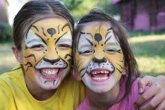 2 тигра Стоковое Изображение