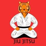 Тигр в кимоно иллюстрация вектора