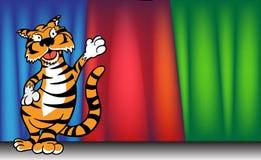 тигр занавеса бесплатная иллюстрация