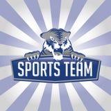 тигр команды спортов логоса Стоковое Изображение