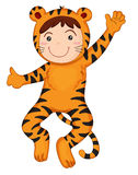тигр мальчика Стоковое Фото