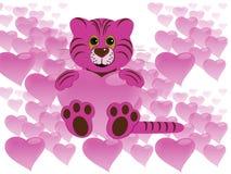 тигр сердца Стоковые Изображения RF